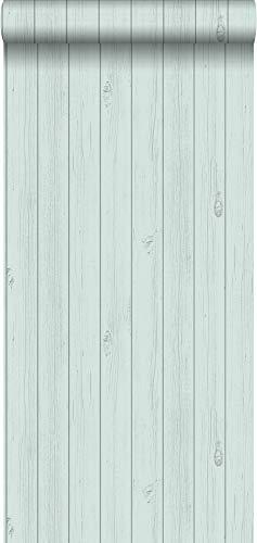 Tapete Holz-Optik Pastell Mintgrün - 128851 - von ESTAhome.nl
