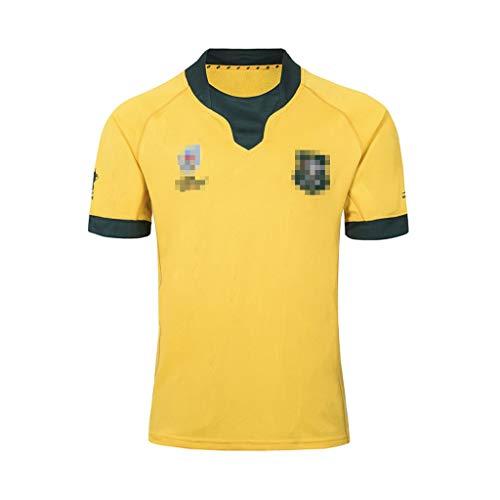 ZSZKFZ 2019 Australian Heim- Und Auswärts Rugby Jersey, Rugby-T-Shirt (Color : Yellow, Size : XL)