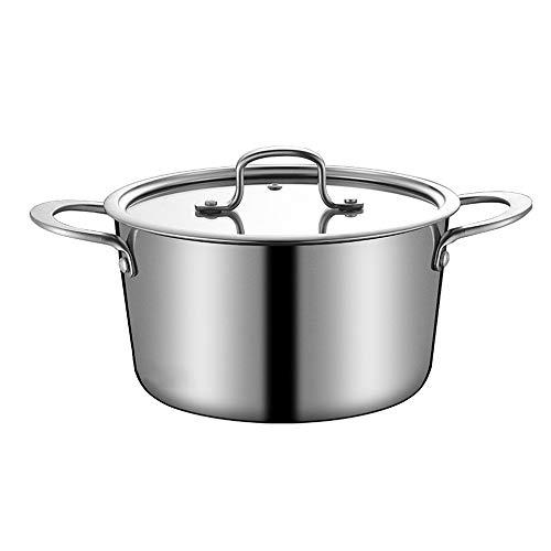 FDQNDXF 4in1 Multifunktions-Suppentopf, Wok für die Küche zu Hause, sichere Lebensmittelqualität Gleichmäßige Hitze, dick und langlebig Größere Kapazität Bessere Versiegelung