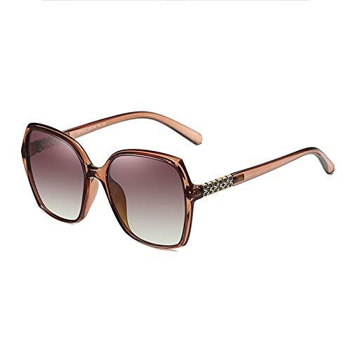 WWDKF Gafas De Sol, Gafas De Sol De Metal Polarizadas TAC De Montura Grande para Exteriores De Moda Clásica para Mujer, Gafas De Conducción De Ciclismo Y Pesca Deportiva De Moda,E