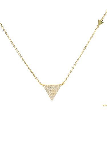 MyGold Mujer 9 k (375) oro amarillo 9 quilates (375) bala blanco Cubic Zirconia