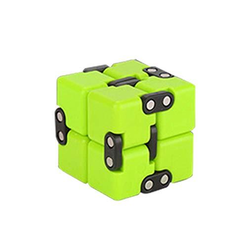 JHDS Stress Relief Infinity Magic Cube, Juguete De Descompresión Magic Cube Puzzle, Anti Ansiedad Alivia El Estrés, Juguetes Sensoriales para Niños Autistas con TDAH, Juguete Helado para Ejercicios