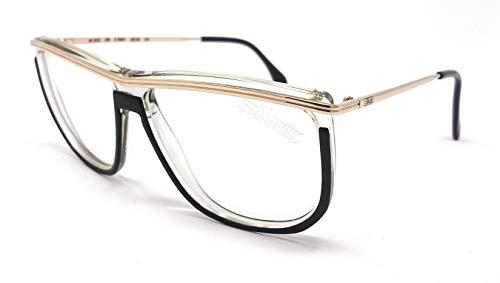 Silhouette Gafas de vista para mujer M 1223/20 V 2924 negro oro Calibre 55 vintage