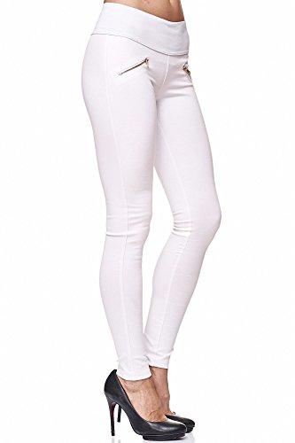 Elara Miss Anna Damen Stretch Hose Skinny Jegging Chunkyrayan A08-9 White 40 (L)