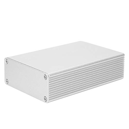 Aluminium Elektronische Gehäuse, Matt Silber Gehäuse, DIY Elektronisches Anschlussdose Wasserdicht, Wärmeableitungsgehäuse für Außenbereich, 27x66x100mm