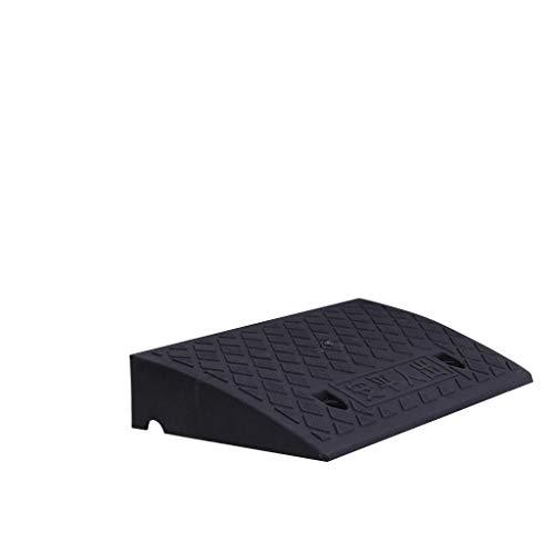 Off-road Vehicle Uphill Oprijplaten, weerstand tegen corrosie plastic randen Lichtgewicht handige draagtas Slope Mat Parken/bedrijven Vehicle Slope Mat (Color : Black, Size : 50 * 27 * 9cm)