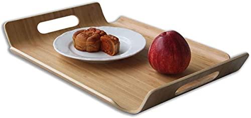 Hand rechteckige Bambus gebogen Holzplatte Tablett Tee Frühstück Tablett Kaffee Tablett Hotel Tablett 15,5