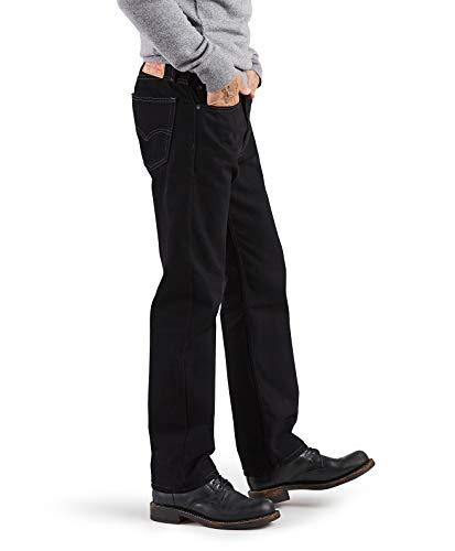 Levi's Men's 505 Regular Fit-Jeans, Black, 34x32