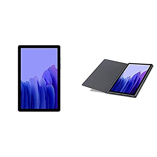 Samsung A7 Tablet 10.4 Wi-Fi 64 GB Gray with Samsung Tab A7 Bookcover - Grey