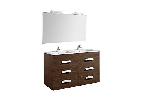 Roca A855995154 - Debba (mueble+lavabo+espejo+aplique LED) 1200mm wengue