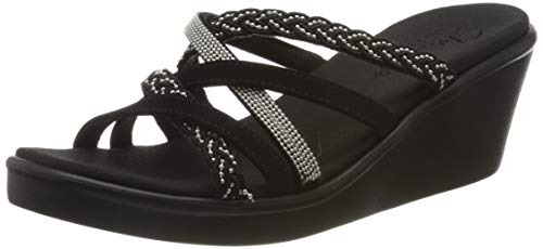 Skechers Damen Rumble On-Dreamy Days Sandalen, Schwarz (Black Mitobuck/Metal Beads Blk), 39 EU