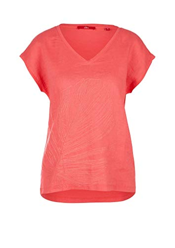 s.Oliver Damen 120.10.005.12.130.2038634 T-Shirt, 45L0 pink Embroidery, 40