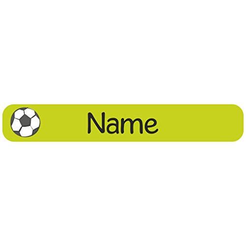 Mein Zwergenland 60 Étiquettes de Nom avec Motif et Nom - Citron Vert Football