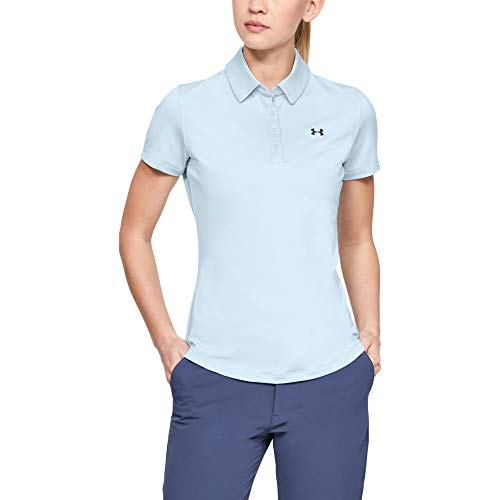 Under Armour Damen Zinger Short Sleeve Poloshirt, Blau (Moonstone Blue 460), M