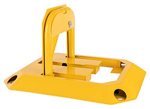 Stagecaptain PPS-30 Parkplatzschloss - Klappbare Parkplatzsperre - Abschließbar (3 Schlüssel inklusive) - Aus robustem Stahl - Gelb