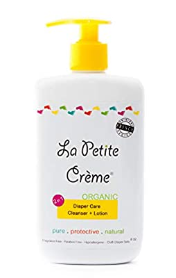 La Petite Creme - Organic French Diapering Lotion **Alternative to Baby Wipes** Liniment (8 Oz) - USDA Certified Organic