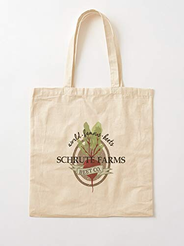 Desconocido Dwight Beets Bearts Battlestar Office Farms The Schrute Galactica I Anh Canvas Grocery Bags Tote Bags with Handles Durable Cotton Shopping Bags