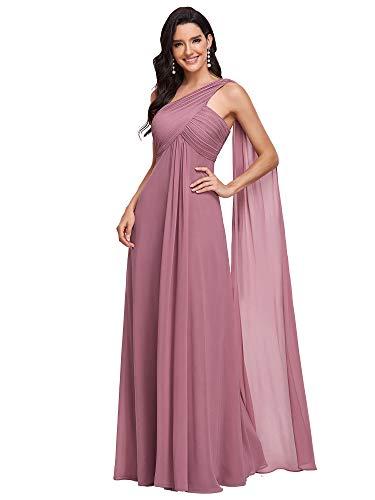 Ever-Pretty Womens Elegant Chiffon Off Shoulder Maxi A Line Formal Party Dress 4 US Orchid