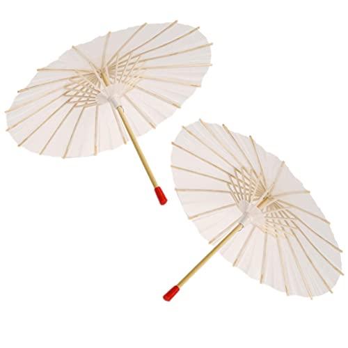 Papierschirme, Weißes Papier Geölter Regenschirm DIY Malerei Dekorativer Regenschirm Orientalischer Regenschirm Sonnenschirm Mit Holzgriff Für Partydekoration Kindergeschenk