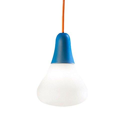 CIULIFRULI - Suspension d'extérieur Bleu/Blanc H19cm - Luminaire d'extérieur Martinelli Luce designé par Emilliana Martinelli