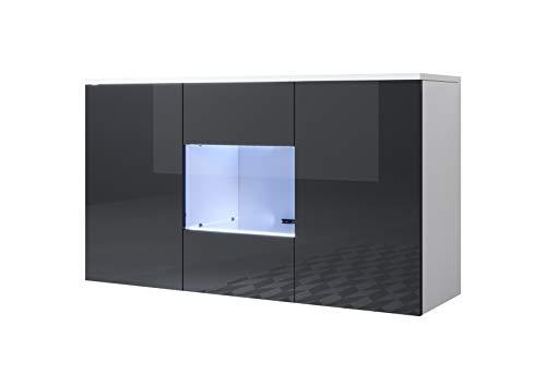 muebles bonitos Aparador Modelo Luke A2 (120x70cm) Colgante Color Blanco y Negro