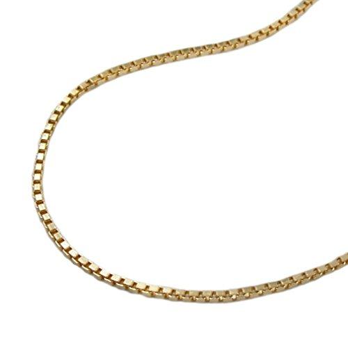 Unbespeeld modesieraad ketting halsketting Venetiaanse ketting verguld diamant voor vrouwen lengte 50 cm x 1 mm hanger ketting dubbele ketting dames