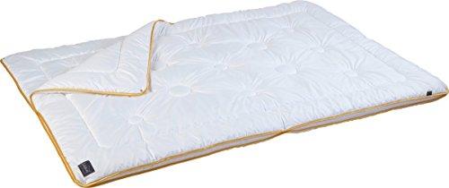 Pflegeleichte 4-Jahreszeiten-Bettdecke aus Mikrofaser, unkompliziert mit Füllung bei 60° waschbar, 135 x 200 cm