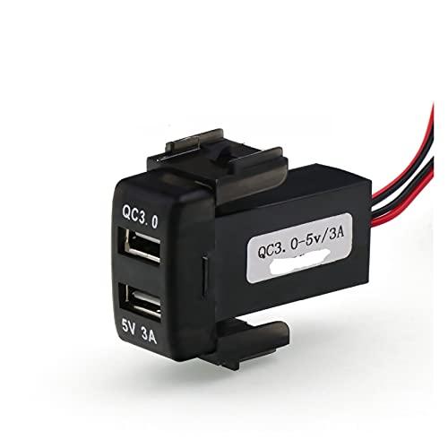 LIULIANG MeiKeL QC3.0 + 5V 3A USB Cargador de Coche rápido de la Interfaz, el Cargador de automóvil de Carga rápida se Adapta a Nissan, Qashqai, Tiida, X-Trail, Soleado, NV200