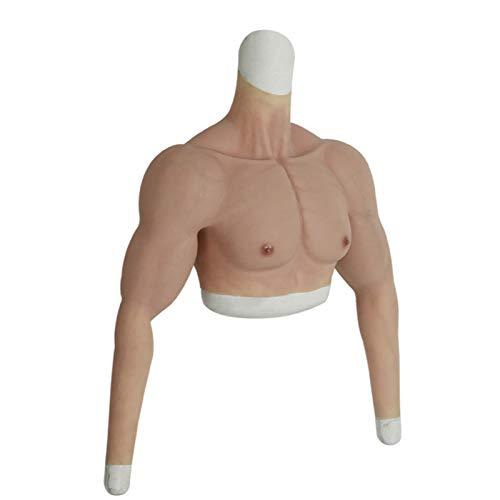 ESGT Silikon Gefälschte Brust Muskelweste - Mann Charming Cosplay Falscher Bauch Für Männer Filme Requisiten Crossdresser Männer Lustige Brust Simulation Muskel