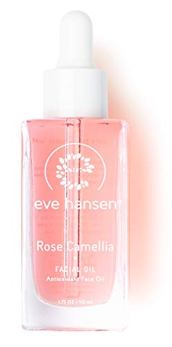 Eve Hansen Rose Camellia Facial Oil | Antioxidant Rich Anti-Aging Moisturizer with Rosehip, Grapeseed, Vitamin E, Squalane | for fine lines, wrinkles, dry skin, acne scars 1.7 oz