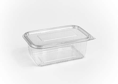 (Pack van 80) 1000 ml Salade opslag Containers Ronde scharnierende Neem weg Fast Food Wegwerp heldere doos plastic deksels Opslag Bowls Cafe Restaurant