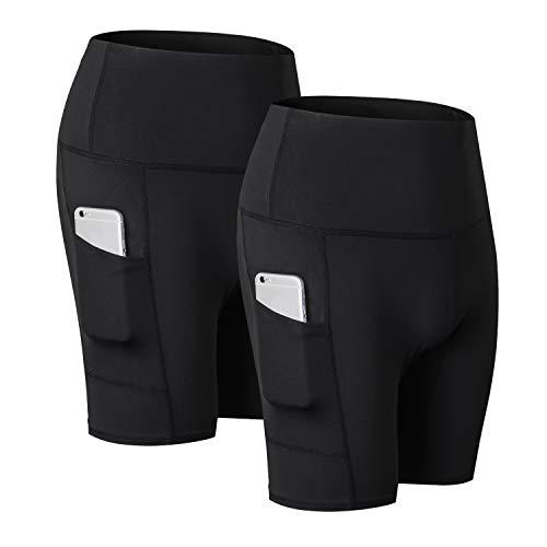 R RUNVEL Ladies Sports Shorts with Pocket Women Running...