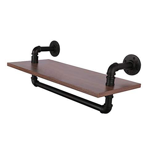 OROPY U-Form Wandregal - Eisen Holzmaterial Schweberegale im Retro-Stil mit Hängeschiene - Industrie Hängeregal für Wohnzimmer, Schlafzimmer, Küche