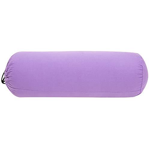 EVFIT Rodillo de espuma para masaje, almohada cilíndrica, suministros de fitness, yoga, almohada para mujeres embarazadas, cojín para cuerpo (color: morado, tamaño: 72 x 23 cm)