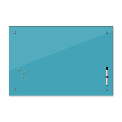 Bilderdepot24 Memoboard - 60 x 40 cm, 24 Farben - türkis - Glas - Glasboard - Glastafel - Magnetwand - Pinnwand - Mehrzwecktafel Farbton - Grundfarbe - einfarbige Schreibtafel