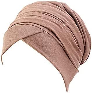 Women Turban African Pattern Knot Headwrap Beanie Pre-Tied Bonnet Chemo Cap Hair Loss Hat