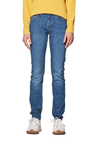 ESPRIT Damen 998EE1B818 Slim Jeans, 902/BLUE MEDIUM WASH, W28/L30 (Herstellergröße: 28/30)
