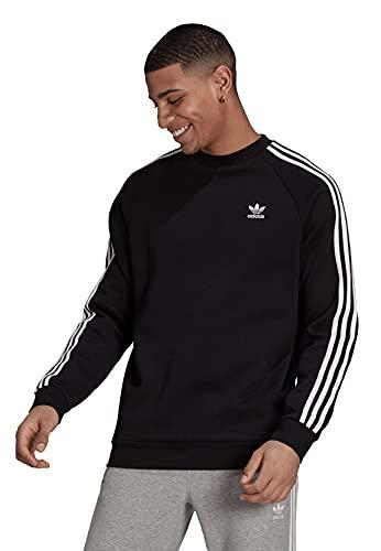adidas GN3487 3-Stripes Crew Pullover Mens Black M