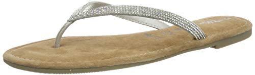 Tamaris Damen 1-1-27124-22 Pantoletten, Silber (Silver Glam 919), 39 EU