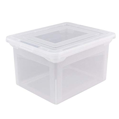 Office Depot Brand Letter and Legal File Tote, 18'L x 14 1/4'W x 10 7/8'H, Clear