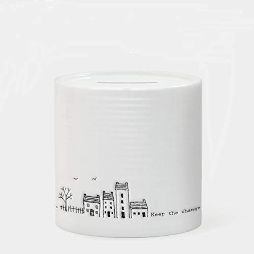 East of India - Hucha (Porcelana), diseño con Texto Keep The Change