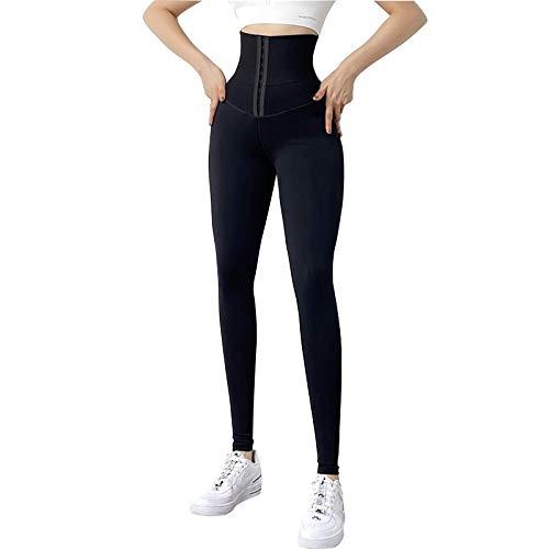 UFLF Leggings Push Up Mujer con Faja Mallas Deporte Mujer Pantalones Elástico de Alta Cintura Leggings Corset Fitness Yoga para Ejercicios Uso Diario (S)