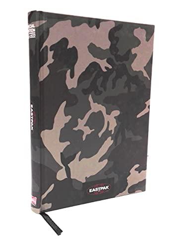 Schülerkalender kompatibel mit Eastpak Special Edition F.to Pocket 15 x 11 cm Datum 2021/2022 Camo Militär + gratis Schlüsselanhänger Würfelspiel und Militärstift