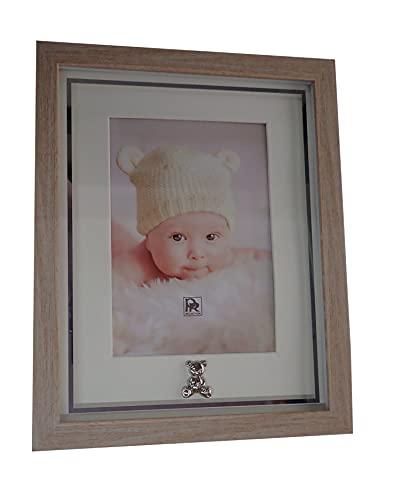 Colección clásica de lujo. Marco de resina de imitación de madera, fotos con inserción plateada. Foto de 13 x 18 cm. Ref: HCK/1035