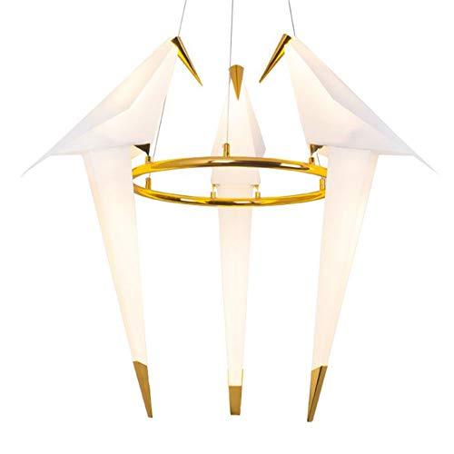 CHENJUNAMZ Nordic Creative Paper Crane Bird Chandelier Personalizado Decoración del hogar Iluminación 60 * 82CM Interruptor de botón