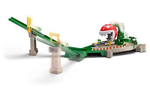 Hot Wheels Mario Kart Piraña, pistas de coches con vehículo para niños + 3 años (Mattel GFY47)