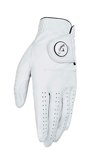 Callaway Gants de Golf pour Homme Dawn Patrol 100% Cuir de qualité supérieure avec marqueur de Balle, Homme, Blanc, L