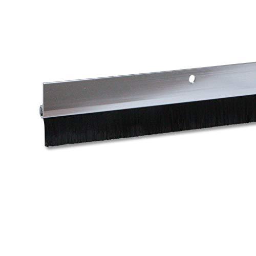 2 x Türdichtung / Türbürste aus Aluminium (silber, 1m, 2 Stück)