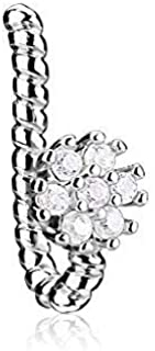 MoBody Fake Nose Clip On Ring CZ Crystals Non-Piercing Stainless Steel Ear Clip Earring Illusion Jewelry