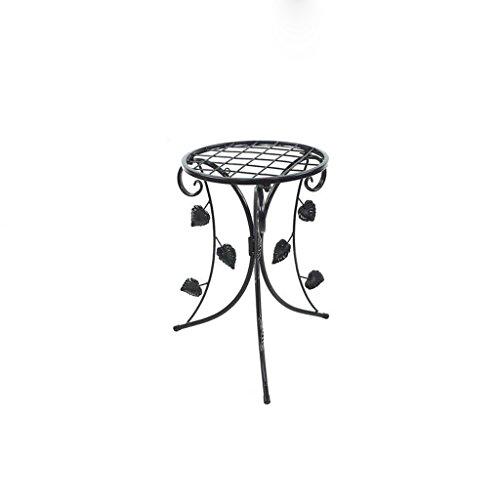 CKH Européenne en Fer Forgé Fleur Rack Simple Au Sol Intérieur Salon Balcon Vert Suspendu Orchidée Pot De Fleurs Étagère Unique Noir